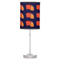 Funny Hippo Primitive Art Lamp