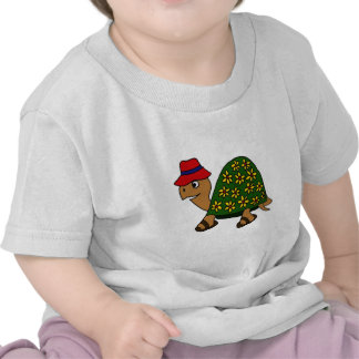 Funny Hippy Flower Turtle Cartoon Tshirts