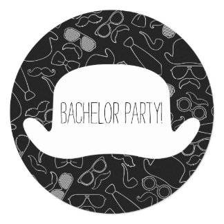 Funny Hipster Bachelor Party Invitation