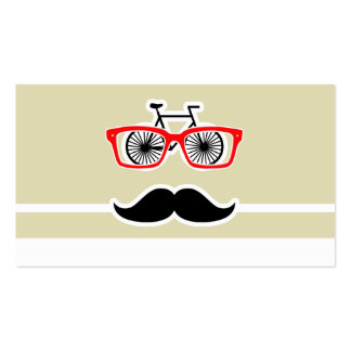Funny Hipster; Beige Stripes; Striped Business Cards