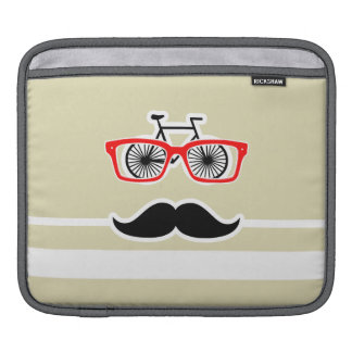 Funny Hipster; Beige Stripes; Striped Sleeves For iPads