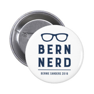 Funny Hipster Bernie Sanders for President Pinback Button