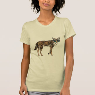 Funny Hipster Coyote with Sunglasses T Shirt