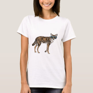 Funny Hipster Coyote with Sunglasses T-Shirt