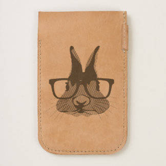 Funny Hipster Easter bunny with red rim glasses iPhone 6/6S Case