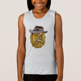 Funny Hipster Lion Tank Top