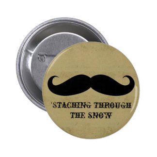 Funny hipster mustache holiday xmas mustaches pins