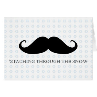 Funny hipster mustache holiday xmas mustaches card