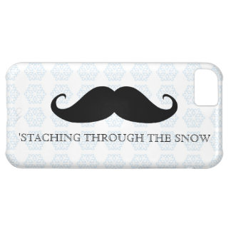 Funny hipster mustache holiday xmas mustaches case for iPhone 5C