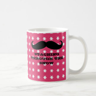 Funny hipster mustache holiday xmas mustaches coffee mug