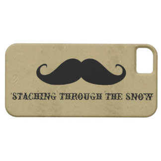 Funny hipster mustache holiday xmas mustaches iPhone SE/5/5s case