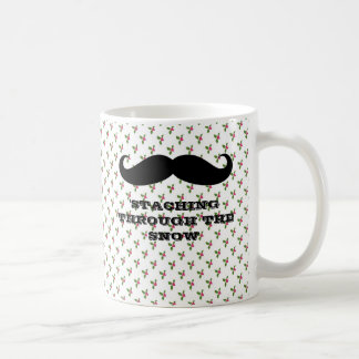 Funny hipster mustache holiday xmas mustaches mugs