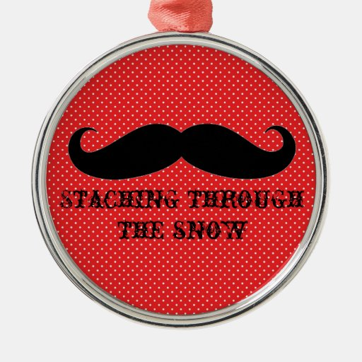 Funny hipster mustache holiday xmas mustaches christmas tree ornaments
