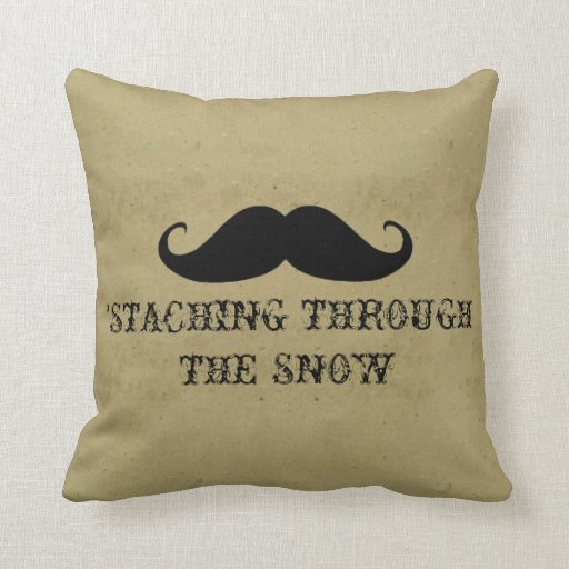 Funny hipster mustache holiday xmas mustaches pillows