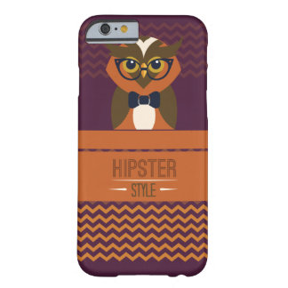 Funny Hipster Style Owl Barely There iPhone 6 Case