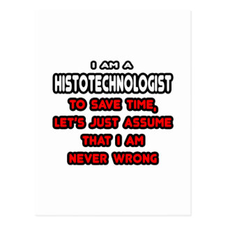 Funny Histotechnologist T-Shirts and Gifts Postcards