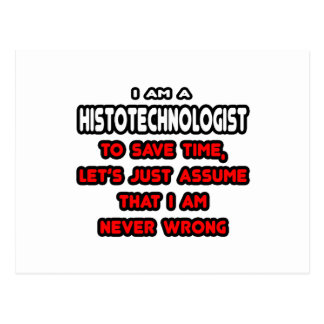 Funny Histotechnologist T-Shirts and Gifts Postcard
