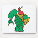 funny hitchhiker turtle mouse pad