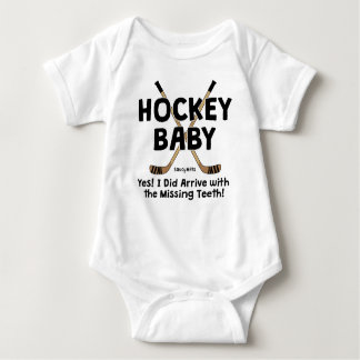 Funny Hockey Baby Missing Teeth Infant Baby Bodysuit