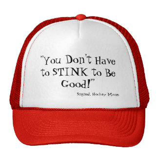 "Funny Hockey Cap; Signed, ""Hockey Moms"" Trucker Hat"
