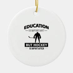 Funny Hockey Ceramic Ornament at Zazzle
