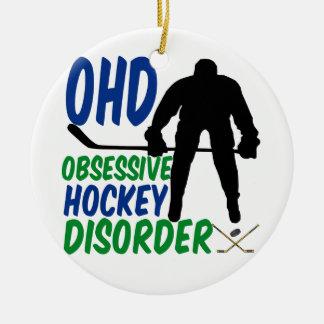 Funny Hockey Ceramic Ornament