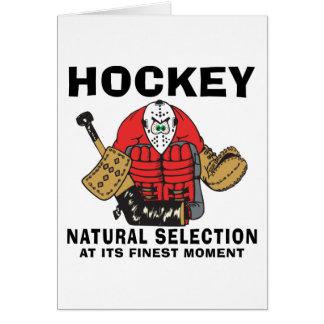 Funny Hockey Goalie Card