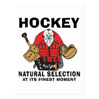 Funny Hockey Goalie Postcard