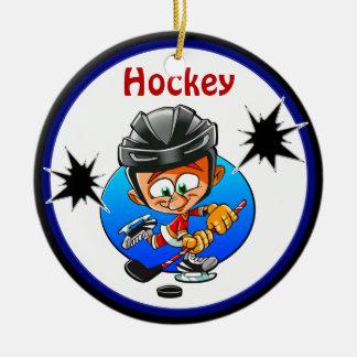 Funny Hockey Ornaments 2 Text Boxes, Hockey Rocks