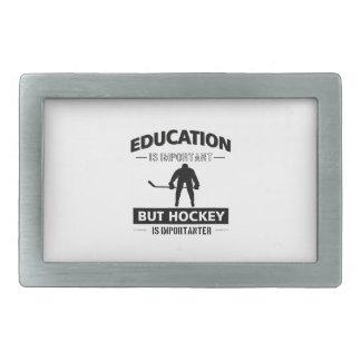 Funny Hockey Rectangular Belt Buckle