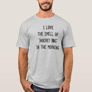 """Funny Hockey T-shirt - """"I Love the Smell..."""""""