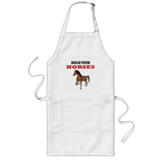Funny Hold Your Horses Aprons