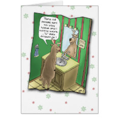 Funny Holiday Cards: Working Christmas Eve Card at Zazzle