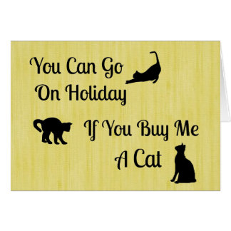 Funny Holiday Cat Note Cards