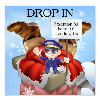 Funny Holiday - Christmas DROP IN Invitation