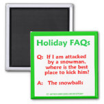 Funny Holiday FAQS Christmas Magnet
