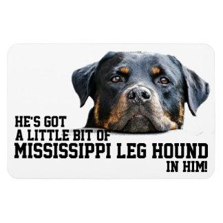 Funny Holiday Mississippi Leg Hound Rottweiler Dog Rectangular Photo Magnet