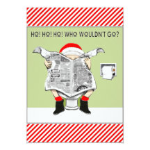 Funny Christmas Party Invitations Announcements Zazzle