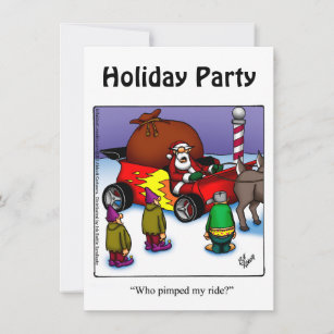 Funny Holiday Party Invitations