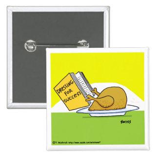 Funny Holiday Turkey Cartoon Button