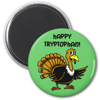 Funny holiday turkey fridge magnets