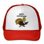 Funny holiday turkey mesh hats
