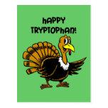 Funny holiday turkey post card