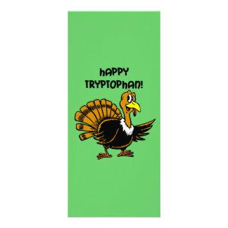 Funny holiday turkey rack card