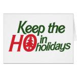 Funny Holidays Ho Greeting Cards