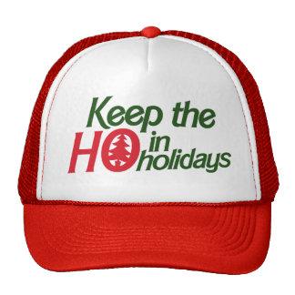 Funny Holidays Ho Mesh Hat
