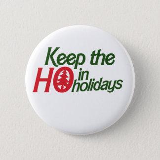 Funny Holidays Ho Pinback Button
