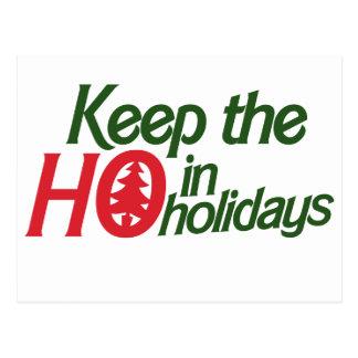 Funny Holidays Ho Postcard