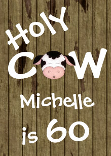 60 off funny 60th birthday invitations shop now to save zazzle funny holy cow 60th humorous birthday invitation filmwisefo