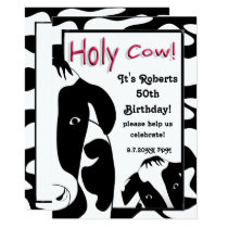 Funny Holy Cow Birthday Party Invite